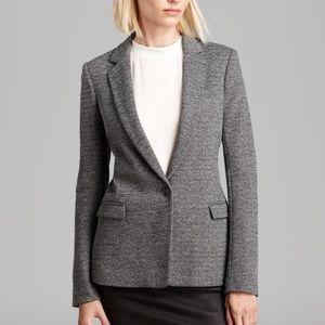 Theory Gray Wool Blend Dancey Tweed Blazer Jacket